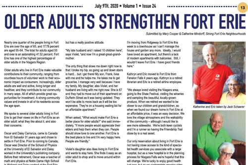 Older Adults Strengthen Fort Erie